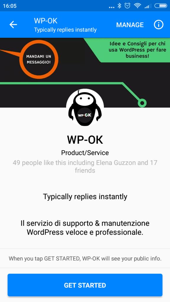 Manda un messaggio a Wok